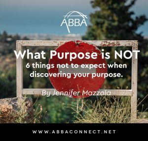 Six things Purpose is Not
